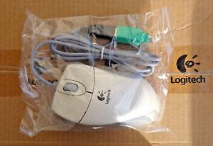 Logitech MouseMan Wheel M-BA47 Ergonomic Wired Scroll Wheel (USB /PS/2) (NEW)