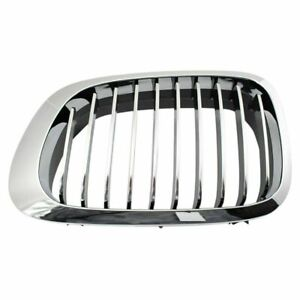 Driver Side Left LH Grille Chrome/Black fits 1999 2003 BMW 3 Series Coupe