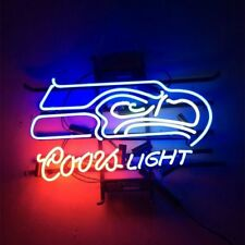 "New Coors Light Seattle Seahawks Neon Sign 17""x14"""