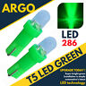 T5 286 LED ULTRA GREEN DASHBOARD LIGHT BULBS XENON HID 12V LAMP  DIALS WEDGE CAR