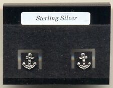 Anchor Sterling Silver 925 Studs Earrings Carded