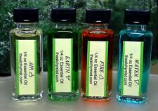 All 4 Elemental Oil ¼ Oz 1/4 Element Wiccan pagan Ritual Spell Essential