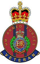 Royal Engineers HM Armed Forces Veterans Clear Cling Sticker