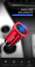 New USAMS US CC054 Aluminum Alloy 4.8A Mini Dual USB Fast Car Charger For iPhone