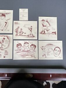 Bill Gallo Lithographs. Koufax, Mantle,  Seaver, Dimaggio, Mays, Snider