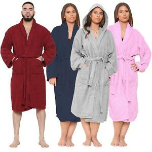 UNISEX LUXURY EGYPTIAN COTTON TOWELLING BATH ROBE DRESSING GOWN TOWEL SOFT