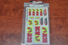 Team Associated RC 10 L3 oval decal fluorescent Red yellow 3822
