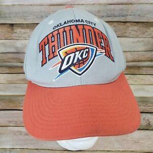 OKC Oklahoma City Thunder NBA Hat Cap Snapback Mitchell & Ness Dirty Brim