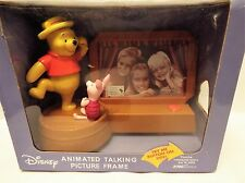 Disney's Pooh of Piglet Animated Talking Picture Frame NIB