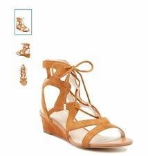 Cole Haan Vable Wedge II Sandal, color- BRITISH TA, size 10B - NEW