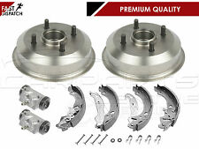 FOR FORD KA 1.3 2002-2008 REAR BRAKE DRUMS SHOES WHEEL CYLINDERS FITTING KIT NEW