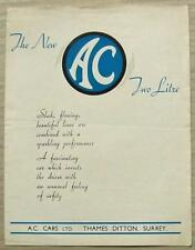 AC 2 LITRE SALOON Car Sales Brochure c1948