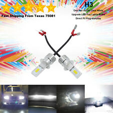 H3 LED Fog Driving Light Bulbs Kit Super Bright Premium Lamp 50W 6000K White
