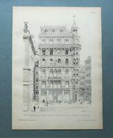 AR86) Architektur Wien 1886 Zum goldenen Becher Stock i Eisen Pl Holzstich 28x39