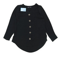Marks & Spencer Womens Size 10 Black Lightweight Blouse (Regular)