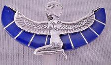 Isis .925 Silver Pendant inlaid with Lapis Lazuli (Hallmarked)(Medium)