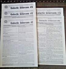 Galactic Intercom issues 1-5 (Oct 1994 - Sept 1995) from Companion Games