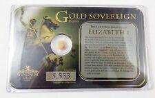 Windsor Mint Gold Sovereign Elizabeth I .585 (14k) 0.5 g Gold
