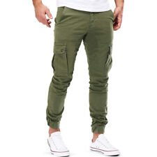 Mens Casual Cargo Sports Pants Joggers Gym Wear Casual Sweatpants Long Trouser