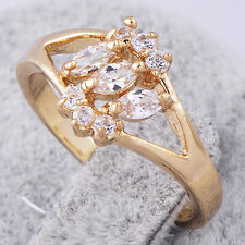 Mystic Topaz Yellow Gold Plated Womens wedding Jewelry Rings Size 7 (US)