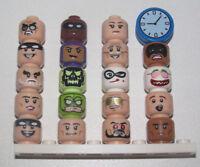 Lego ® Minifig Tête Batman Movie Série 2 Choose Head 71020 NEW