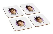 Louis Theroux Funny 4 Piece Wooden Coaster Set
