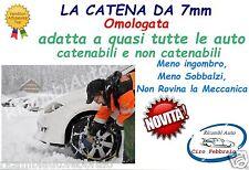 Catene da neve 7mm per Lancia Ypsilon 2011 pneumatico 185/55R15 1855515 18555R15