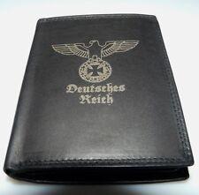 Reichsadler Deutsches Reich Leder Geld Börse  2 1 WK Wehrmacht Uniform Foto EK