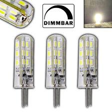 3x G4 LED 1,5W DIMMBAR Tageslichtweiß 5000K 12V DC 24 SMD Halogenersatz Set 10W