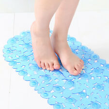 Non Slip Bath Shower Mat Large Strong Suction PVC Anti Slip Pad Bathtub Pebble