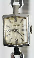 VINTAGE LONGINES 14 K WHITE GOLD LADIES WRISTWATCH 17 JEWELS 4LLV MOVEMENT N1359
