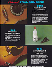 VINTAGE AD SHEET #3129 - DEARMOND GUITAR TRANSDUCERS