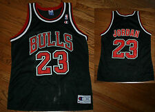 Chicago Bulls Michael Jordan Champion NBA Basketball Jersey shirt Men 44 black