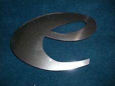 Buchstabe Edelstahl Metall V2A 19,5 x 13 cm 'e' e für Hausnummer etc.