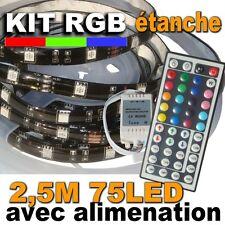 853/2.5BK# KIT ruban LED RGB étanche 75LED 2,5m -- support noir