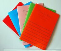 5 x DRAW & WRITE infants exercise books A5 half blank/half lined 40 pages