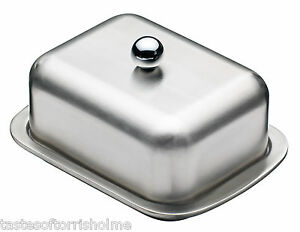 Masterclass Double Walled Insulated Stainless Steel Butter Dish & Fitted Lid