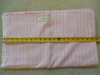"""BTHY, Vintage 1940's-60's, 39"""" Wide Pink on White Cotton, D271"""