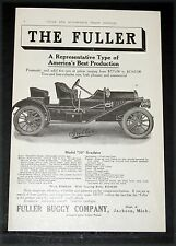 1910 OLD MAGAZINE PRINT AD, FULLER MODEL 30 ROADSTER, AMERICA'S BEST PRODUCTION!