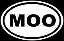 MOO Sticker Cow Farm Animal Love Funny Car Vinyl Decal