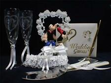 POPEYE Sailor Navy Wedding Cake topper LOT Glasses  server Guest book pen garter
