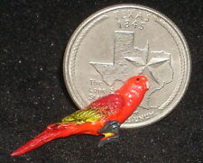 Dollhouse Miniature Chattering Lory / Bird / Pet / Jungle / 1:12 Scale A2241