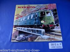 EE 1958 Marklin Catalog 58 E o.P in GD Good Condition