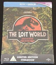 JURASSIC PARK THE LOST WORLD Blu-Ray SteelBook Zavvi UK Exclusive New OOP & Rare