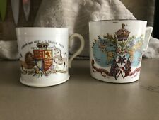 Antique Queen Victoria Diamond Jubilee Mug Globes of Empire Design - Long Live