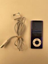 Apple iPod Nano 5th Generation 8GB (A1320) - Purple - Tested Bundle W Cable L9