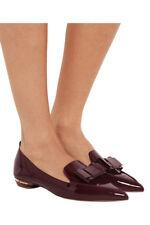 Nicholas Kirkwood | Beya Bow Burgundy Patent Leather Flat Shoes sz 36.5
