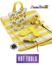 Hot Tools TRAVEL COMBO SET Direct ION HAIR DRYER,Ceramic FLAT IRON,Sandals,Bag +