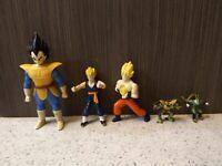 lot of 5 Dragon Ball action figure dorda toys vegeta bk goku and cell