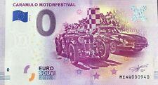 BILLET 0 ZERO EURO  SOUVENIR TOURISTIQUE  CARAMULO MOTOR FESTIVAL 2019-2